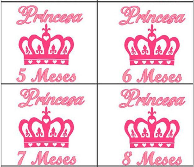 Kit body mesversario coroa princesa 12 bodies
