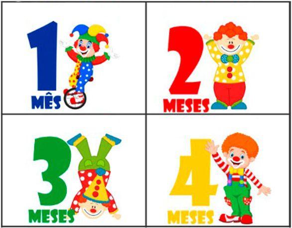 Kit body mesversario palhacinhos circo 12 bodies