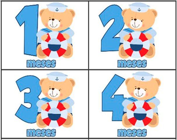 Kit body mesversario ursinho marinheiro 12 bodies