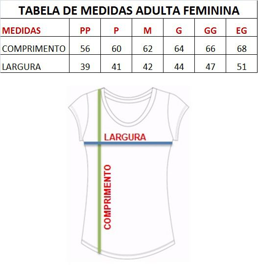 T-shirt adulta feminina bordada enfermagem