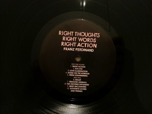 Lp Franz Ferdinand Right Thoughts, Words, Action