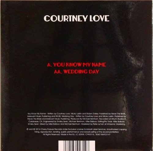 Lp Compacto Courtney Love You Know My Name Wedding Day