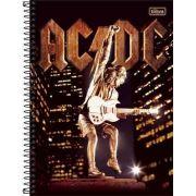 Caderno Tilibra AC/DC 10 Matérias 200 Folhas Stiff Upper Lip