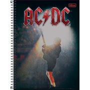 Caderno Tilibra AC/DC 10 Matérias 200 Folhas Let There Be Rock
