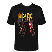 Camiseta Infantil AC/DC Iron Man