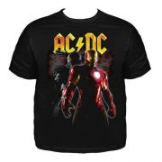 Camiseta Plus Size AC/DC Iron Man