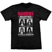 Camiseta Ramones Wanted Poster