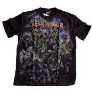 Camiseta Premium Iron Maiden Caveiras