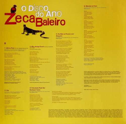 Lp Zeca Baleiro O Disco Do Ano