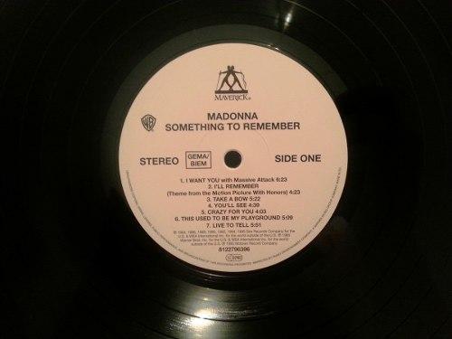 Lp Madonna Something To Remember