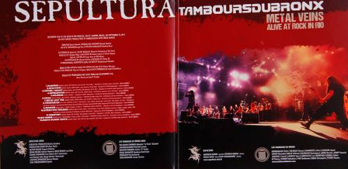 Lp Sepultura Tambours Du Bronx Metal Veins Rock In Rio