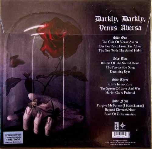 Lp Cradle Of Filth Darkly, Darkly, Venus Aversa