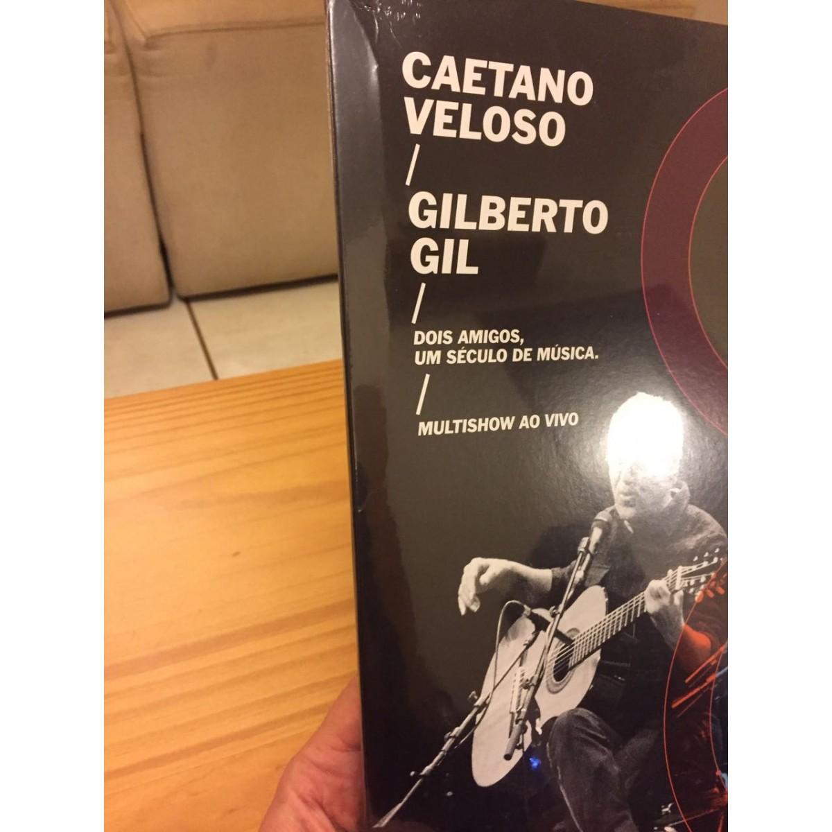 Lp Caetano Veloso e Gilberto Gil Dois Amigos, Um Seculo de Musica CAPA AMASSADA