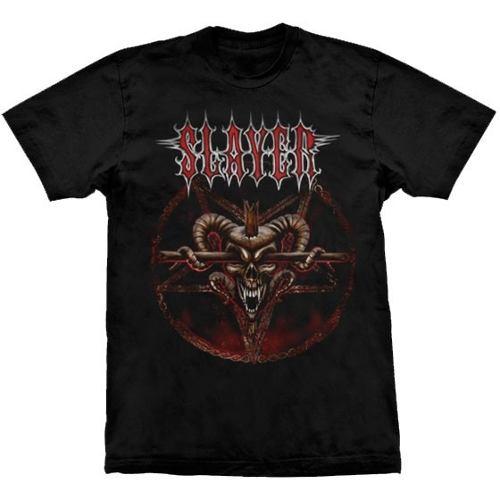 Camiseta Slayer Pentagram Skull