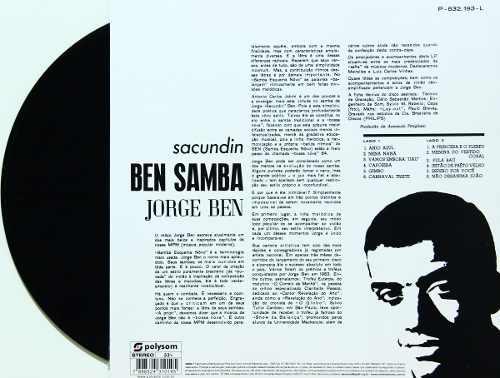 Lp Jorge Ben Sacundin Ben Samba
