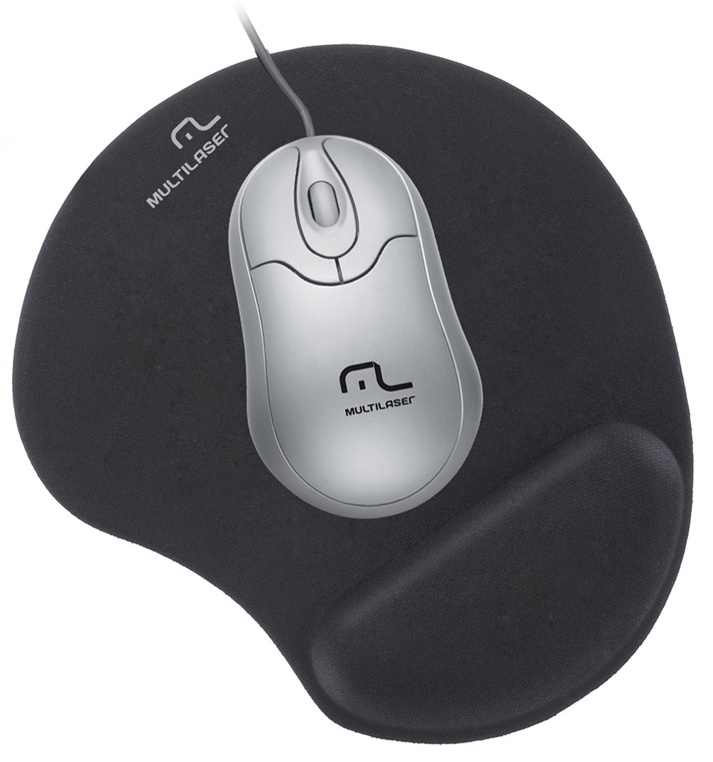 Mouse Pad Multilaser Gel Preto