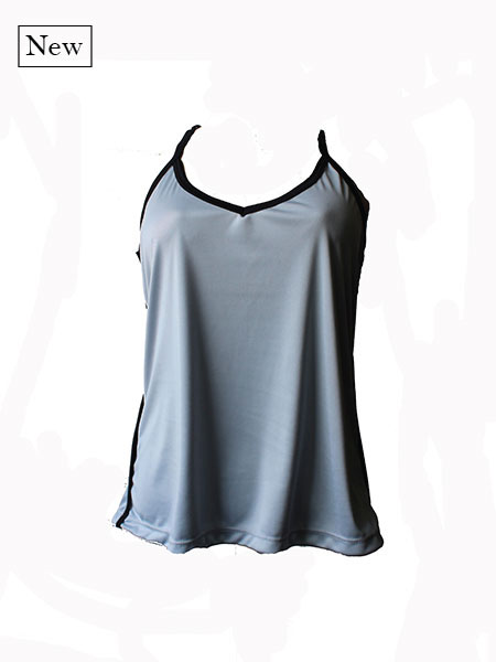 Blusa alcinha dry fit cinza