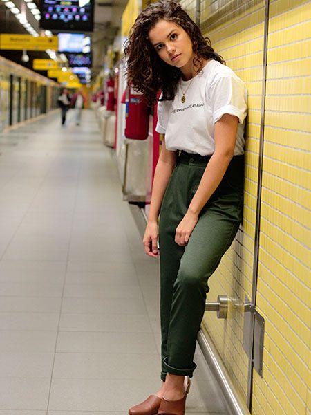 Calça mood verde