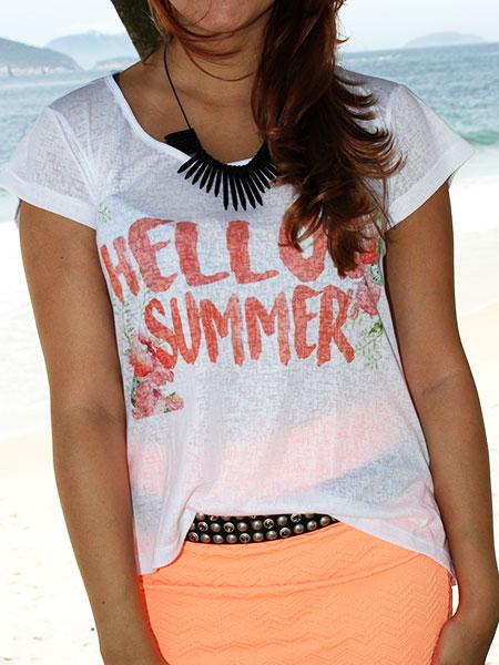 Camiseta Hello Summer