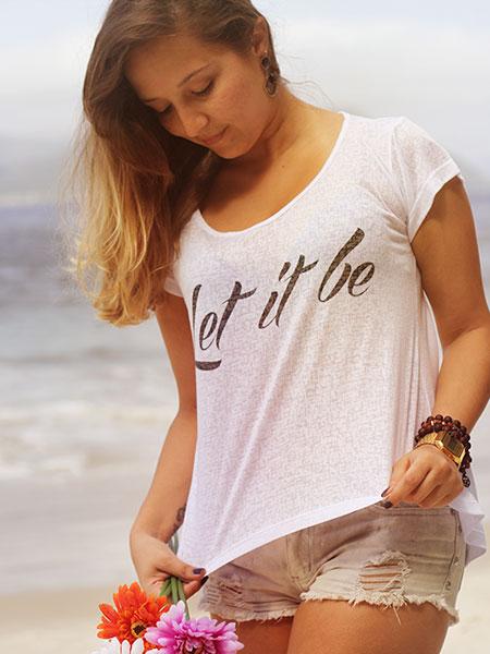 Camiseta Let it be