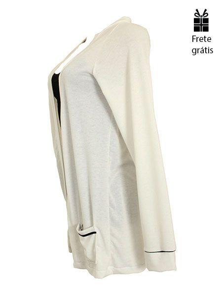Cardigan básico off white