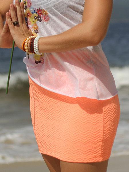 Mini saia laranja