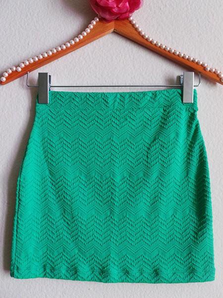 Mini saia verde