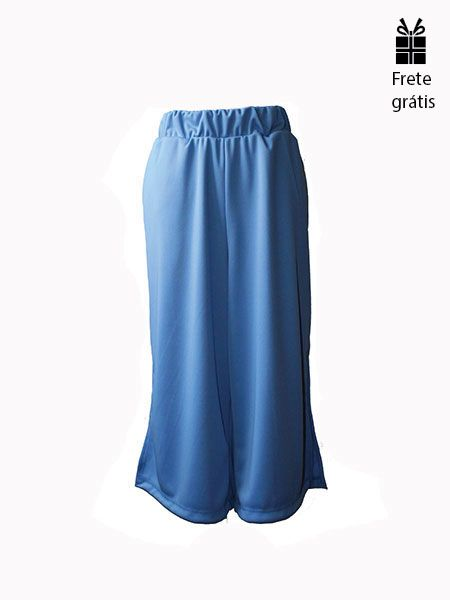 Pantacourt fenda azul