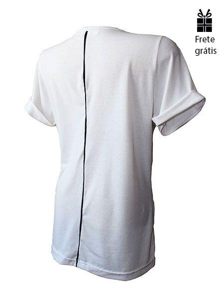T-shirt básica off white