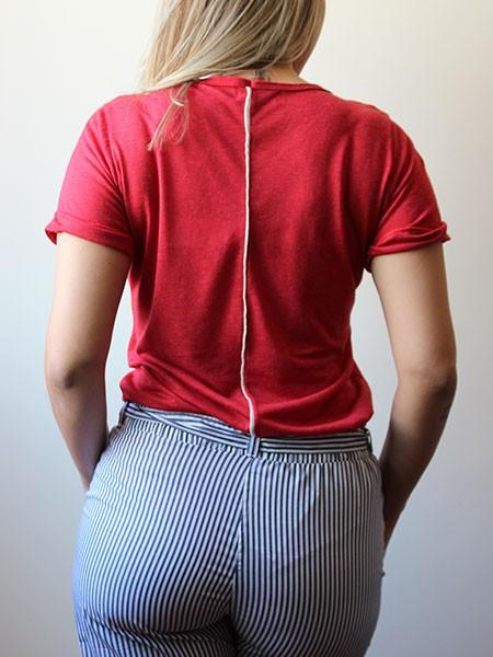 T-shirt básica vermelha