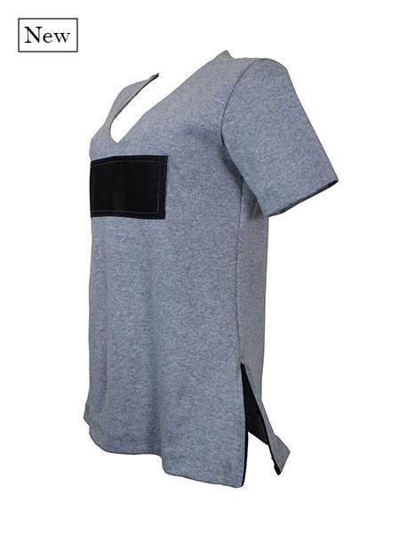 T-shirt couro grey