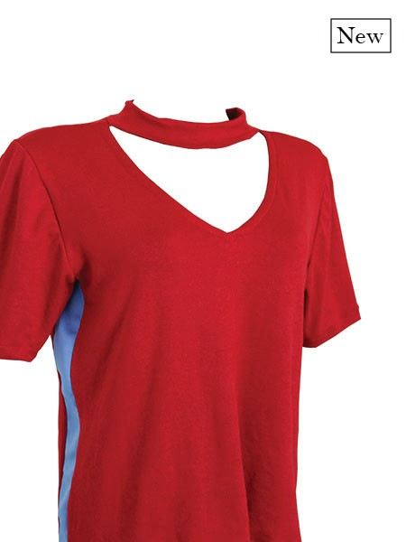 T-shirt red chocker