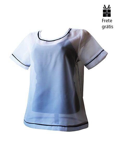 T-shirt voil branca