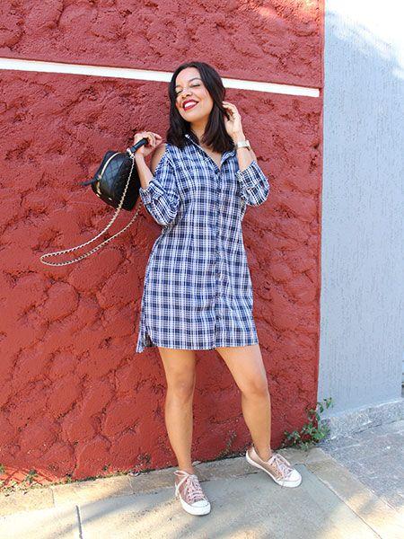 Vestido camisa xadrez