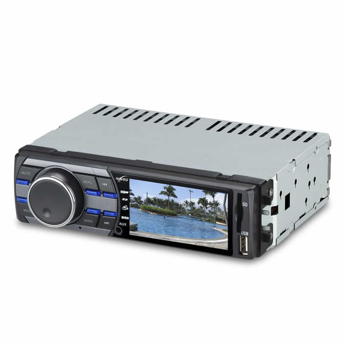 AUTO RÁDIO MP3 COM ENTRADAS USB-SD, TELA LCD 3´´ E CÂMERA TRASEIRA