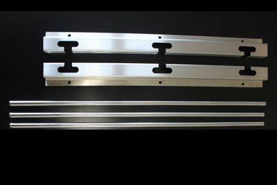 Kit Suportes De Inox Para Espetos E Grelhas - 75cm - 2 Apoios