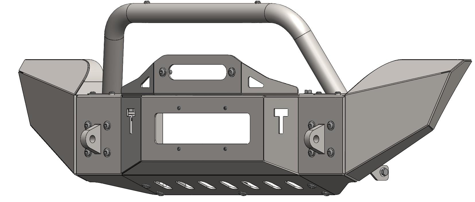 Para-choque Dianteiro De Aço - Troller T4 (2003-2014)