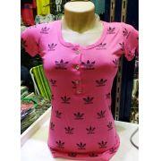 Kit C/ 10 Blusinhas Pijama Feminina Varias Estampas Top