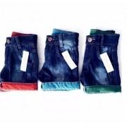 Bermuda Jeans Infantil Atacado Revenda Kit C/ 30 Shorts Top