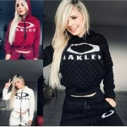 Conjunto Moletom Feminino Oakley Blusa E Calça
