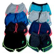 Kit 100 SHORTS MOLETOM FEMININO NIKE