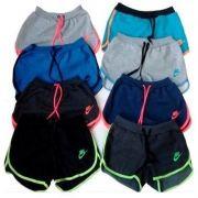 Kit 20 Shorts Feminino Moleton 100% Algodão, Nike Revenda