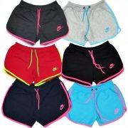 Kit 30 Shorts Feminino Moleton 100% Algodão Nike Verão 2018