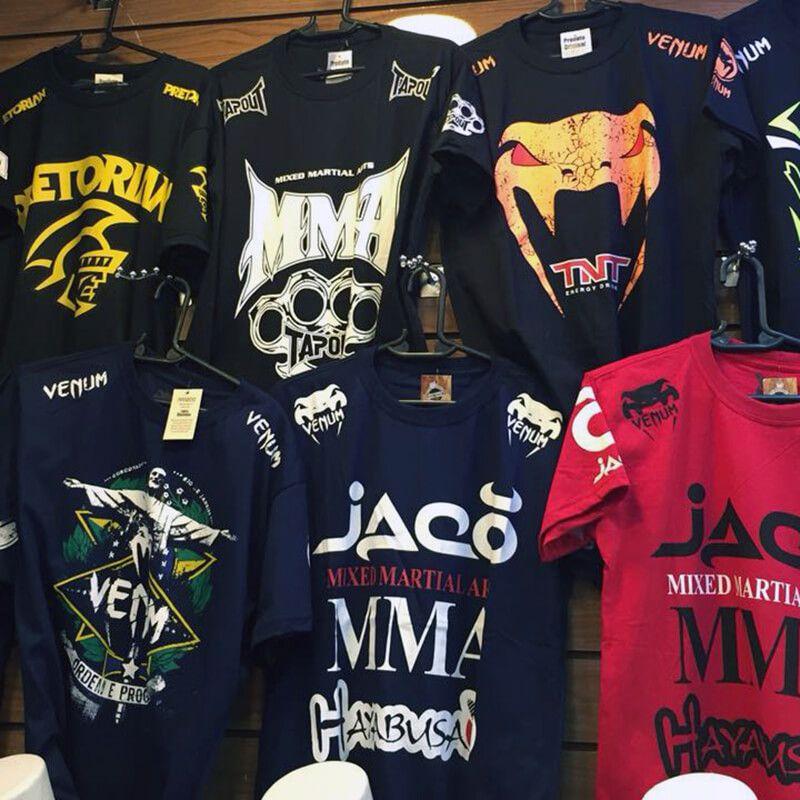 KIT C  40 CAMISETAS MASCULINA MMA UFC JIU JITSU DIVERSAS ESTAMPAS ... f4e8228caeebc