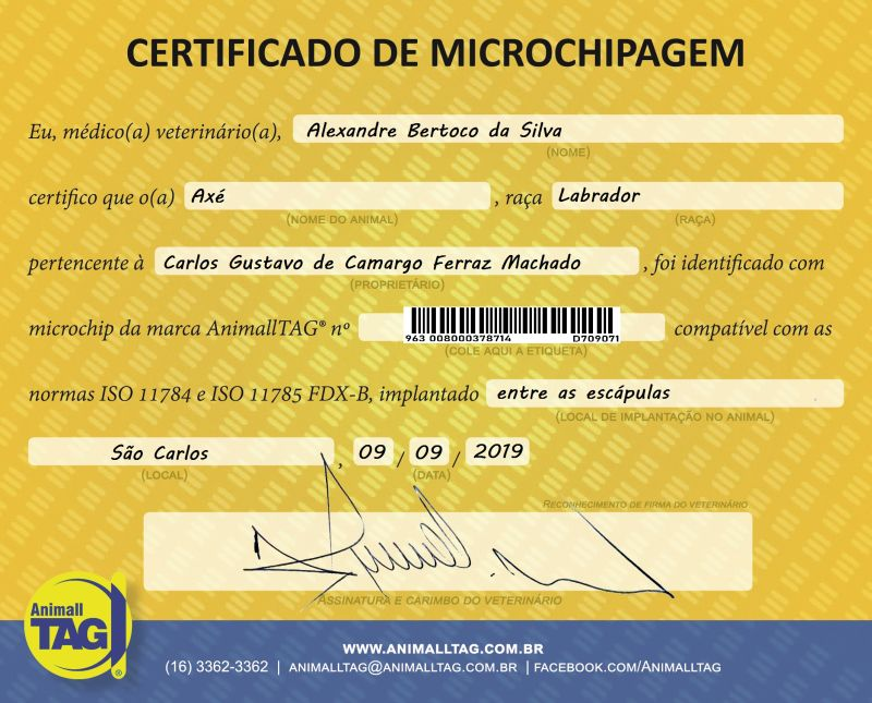 Microchip seringado