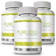 Pure Coco|Óleo de Coco Extra Virgem 100% Puro|Emagrecedor - 03 Potes