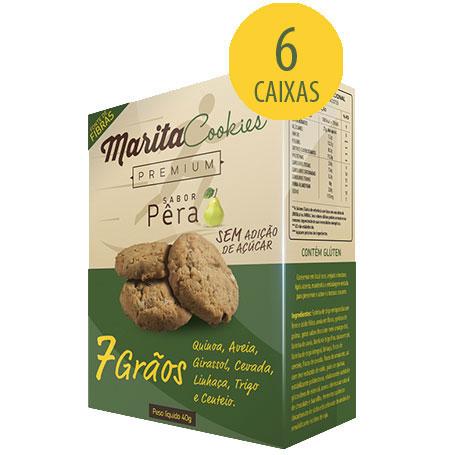 Marita Cookies Premium Pera - 40g (6 Caixas)
