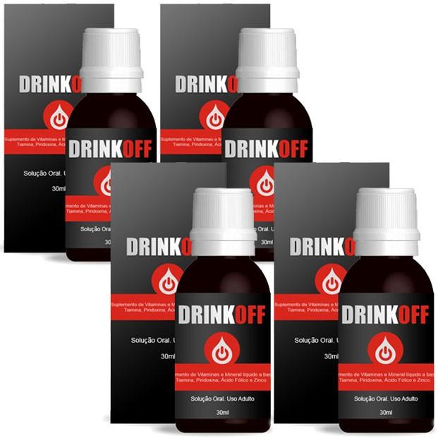 DrinkOff - 30ml - Tratamento Completo para Parar de Beber - Anti-álcool (04 Frascos)  - LA Nature