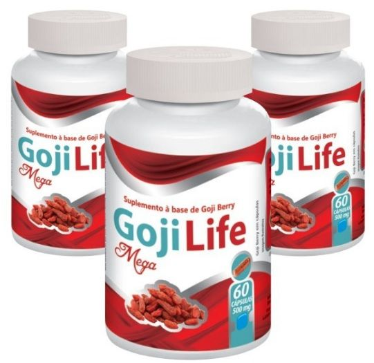 Goji Life - Emagrecedor - Original | 500mg - 03 potes  - LA Nature