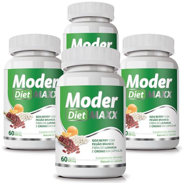 Moder Diet Maxx - Emagrecedor | Original | 500mg - 04 Potes   - LA Nature
